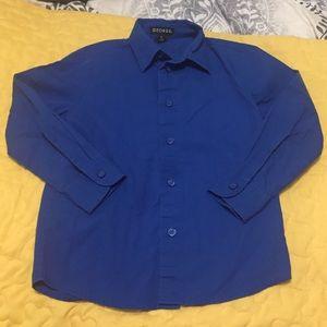 George Boy Shirt Button Up Size 5 Blue